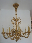 Wooden rococo chandelier