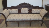 Rococo sofa with relief carving