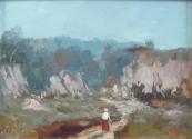 Alois Hejl - Landscape with figure