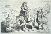 Gaetano Cottafavi  - Woman with child on a donkey