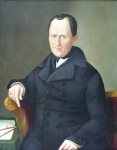 Lüders - Portrait of an architect and builder, Biedermeier