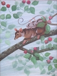 Jan Kudlacek - Possums with cubs on tree