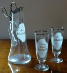 Jubilee pitcher with glasses