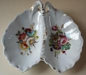 Two-piece porcelain bowl