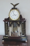 Table clock portal Empire with eagle
