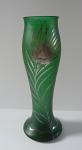 Art Nouveau vase with silver trim