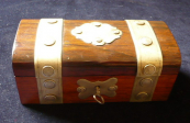 Jewelry Box with metal fittings