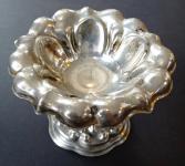 Lot's silver bowl on stem