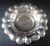 Round silver openwork bowl