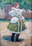 Frantisek Toman - Girl in folk costume