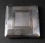Small silver powder box
