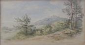 Bedrich Havranek - Landscape with castle in the backround