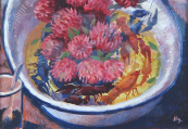 Jan Kudlacek - Bowl of flowers and crayfish