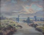 Albin Novotny - Steam at sunset
