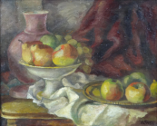 Göshl - Still life with jug, bowl and fruit tray