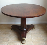 Round table with tilt top plate and lion paws - Biedermeier