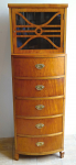High chest of drawers with upper cabinet