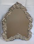 Silver Table Mirror - Late Biedermeier, Vienna 1853