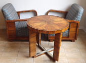Table and two armchairs - Functionalism