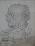 Karel Kotrba - Man cartoon with tobacco