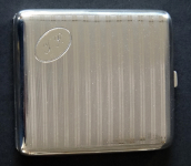 Cigarette case with a monogram - Alpacca