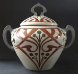 Art Nouveau bowl with lid - Rosskopf & Gerz, Höhr