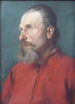 Jan Bilek, attributed - Man in red jacket