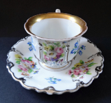 Cup with flowers and silver relief - Klösterle an der Eger