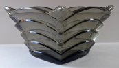Art deco bowl made of smoke glass