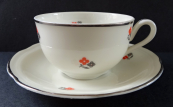 Cup with black and red flowers - Gloria, Karlsbad