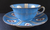 Blue cup with saucer - Paepkke & Schäfer, Haida