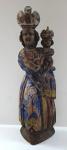 Virgin Mary Svatohorska - Remnants of polychrome