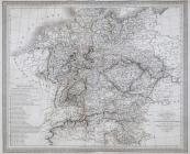 Louis Vivien - Map of the German Confederacy