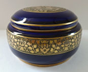 Cobalt box with golden ornament - Rosenthal