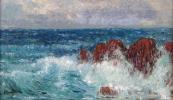 Karel Langer - Sea waves with cliffs