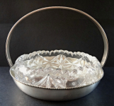 Silver-plated bowl with glass - Franz Bibus