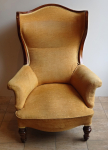 Upholstered walnut armchair - Louis Philippe