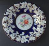 Cobalt gilded plate - Meissen