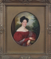 Franz Schrotzberg - Portrét dámy v červených šatech (1).JPG
