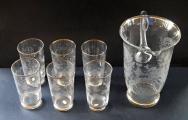 Džbán a šest skleniček s ptáčky a jelenem (2).JPG