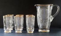 Džbán a šest skleniček s ptáčky a jelenem (1).JPG