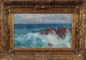 Karel Langer - Mořské vlny s útesy (1).JPG