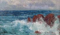 Karel Langer - Mořské vlny s útesy (3).JPG