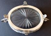 Secesní stříbrná miska, se skleněnou vložkou (6).JPG