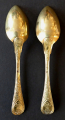 Dvě zlacené stříbrné empírové lžičky - Paříž (2).JPG