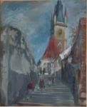 K. Liska - On the steps of the church