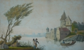 Chateau with a water surface