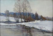 Zdenek Nemastil - On the bank of winter river