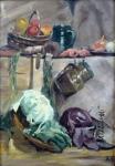 Karel Tondl? - Still life with vegetables