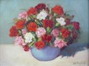 Jozka Rysava-Kacirkova - Carnations in Vase